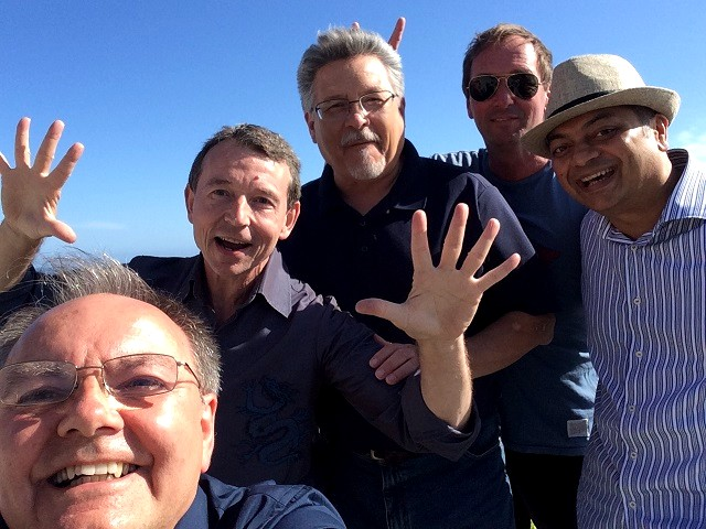 David Cooper, John Carrigan, Jack Treviño (writer STR), Sky Conway and Arbind Ray - group_Malibu